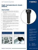 high temperature compressed air filter brochure
