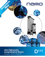 nano NDL desiccant air dryer brochure