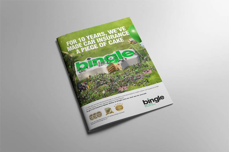 Bingle anniversary press ad