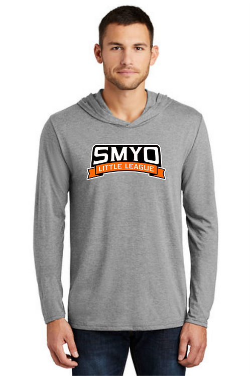Long Sleeve Tee Hoodie - Heather Grey