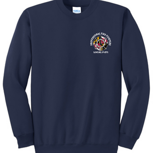 Port & Company Crew Sweatshirt Tall Navy