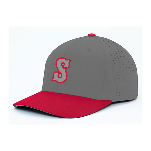 STORM_ Grey_Red Flex Fit Hat