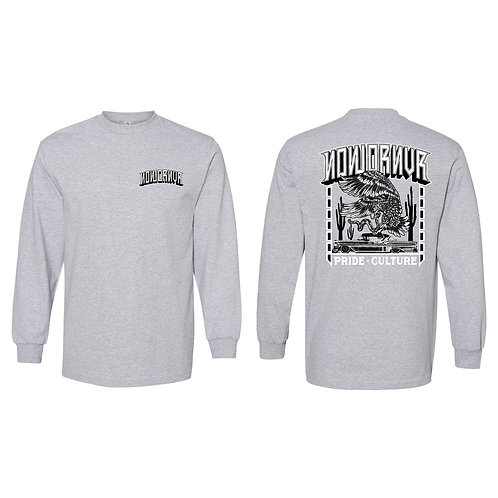 NowOrNvr - Culture Grey Long Sleeve Shirt