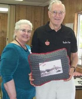 Frances & Bill Hamilton with commemorati