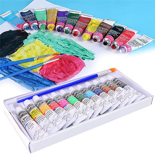12 Color Acrylic Paint Set