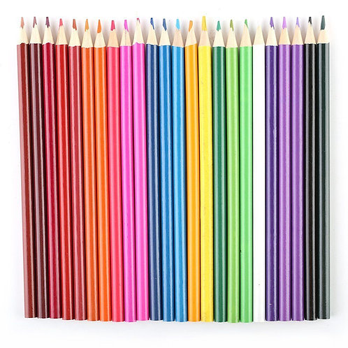 24 Colors Perfect Art Drawing Graffiti Oil Base Sketch Pencils