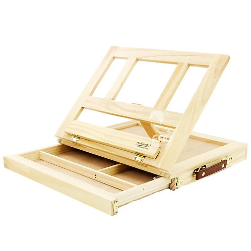 Portable Desk Box Easel 4 Adjustable Gears