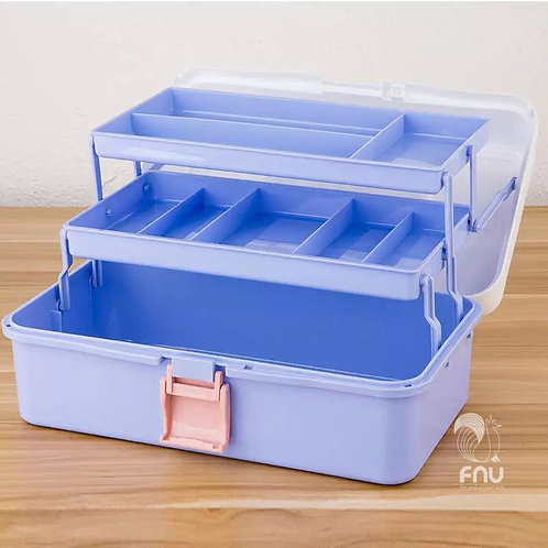 14-Inch Plastic Art Supply Craft Storage Tool Box