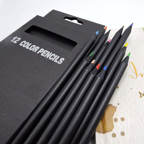 12 Colors Drawing Charcoal Pencils