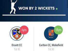 Carlton 1st XI vs Ossett 1st XI 17/7/21