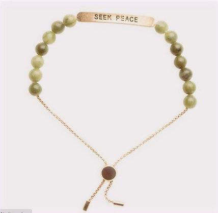 """Seek Peace"" Positive Vibes Bracelet"