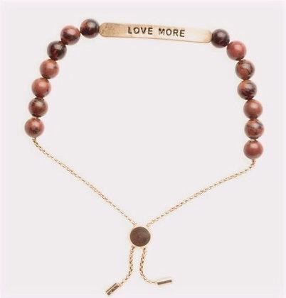 """Love More"" Positive Vibes Bracelet"