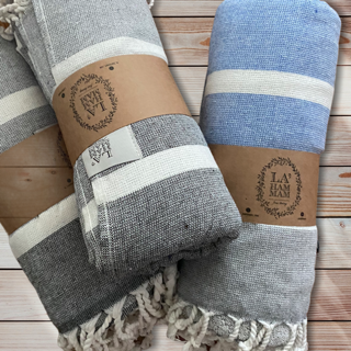 Alexandria Peshtemal Pure Cotton Beach Towel