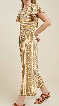 TRIBAL CUT-OUT WIDE LEG JUMPSUIT