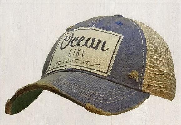 """""""Ocean Girl"""" Distressed Cap"""