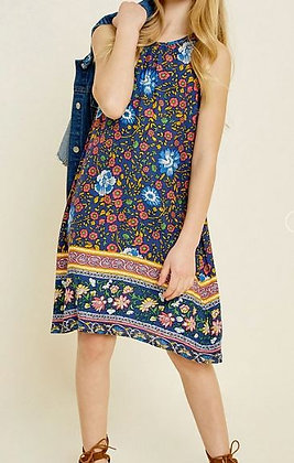 SLEEVELESS FLORAL TANK DRESS