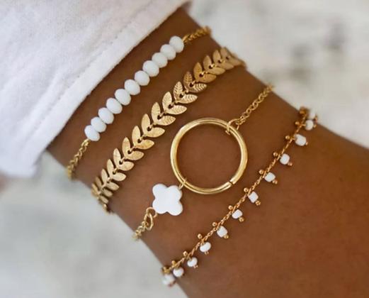Bohemian Stackable White Bracelet