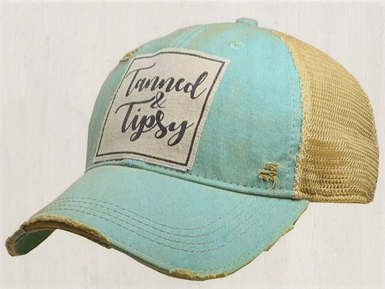 """""""Tanned & Tipsy"""" Distressed Cap"""
