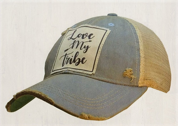 """Love My Tribe"" Distressed Cap"