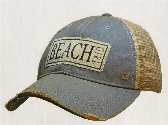 """Beach Girl"" Distressed Cap"