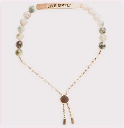 """""""Live Simply"""" Positive Vibes Bracelet"""