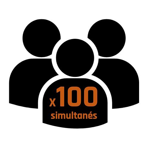 Coût annuel Pack 100 utilisateurs