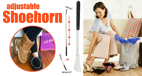 Trouble getting your boots on - try our adjustable shoehorn