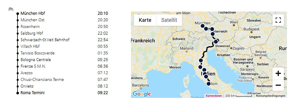 Nachtzug München - Rom - ÖBB