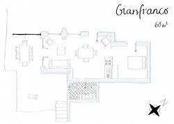 Grundriss Ferienwohnung Gianfranco