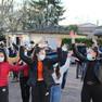 Flashmob de fin d'année organisé par des élèves de 1ère et Mme Castillo