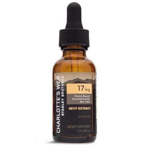 Charlottes Web - CBD Tincture - Full Spectrum Olive Oil (Natural) - 17mg/1mL