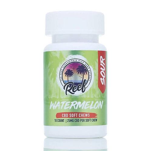 Reef - CBD Edible - Watermelon Sour Gummies - 25mg