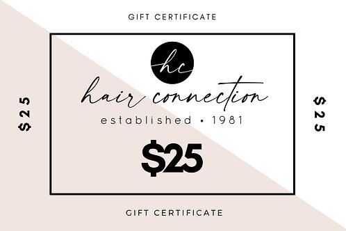 $25 Salon Gift Certificate