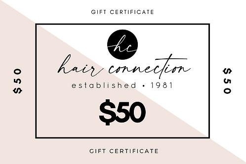$50 Salon Gift Certificate