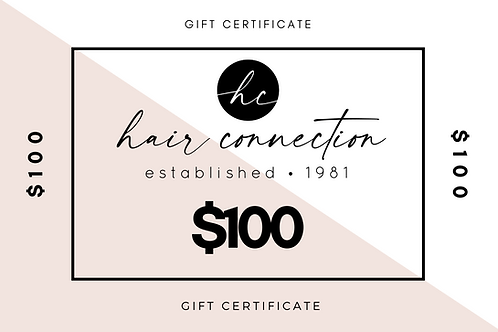 $100 Salon Gift Certificate