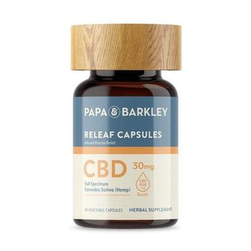 Papa & Barkley - CBD Capsules - Full Spectrum Releaf Caps - 900mg