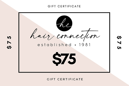 $75 Salon Gift Certificate