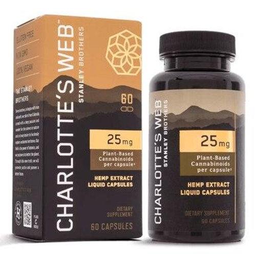 Charlottes Web - CBD Capsules - Full Spectrum Hemp Extract - 25mg