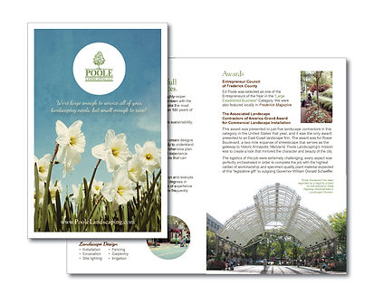 graphic design, brochure, landscaping, marketing, print