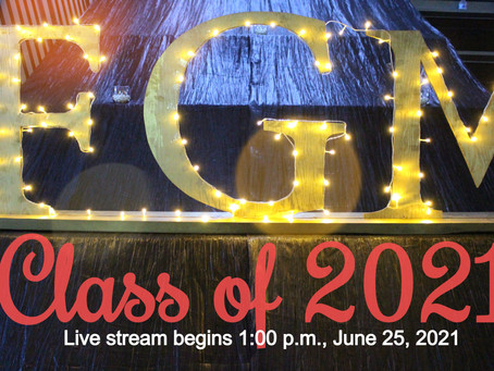 Join us in celebrating the Class of 2021 - Livestream begins tomorrow at 1:00 p.m.