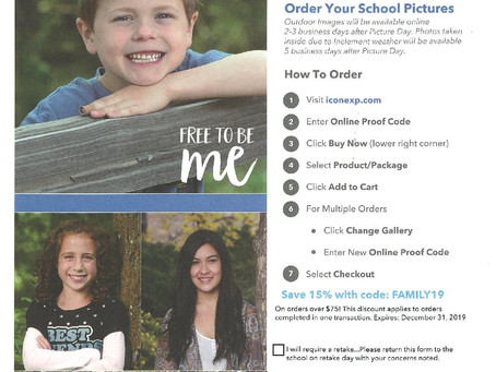 Post Picture Day - Placing Your Order -  RETAKE DAY - Friday, Oct. 25