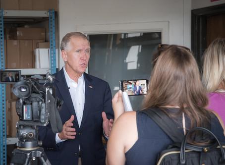Senator Thom Tillis visits ESA