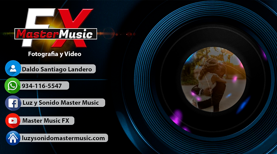 tarjeta de presentacion de master music