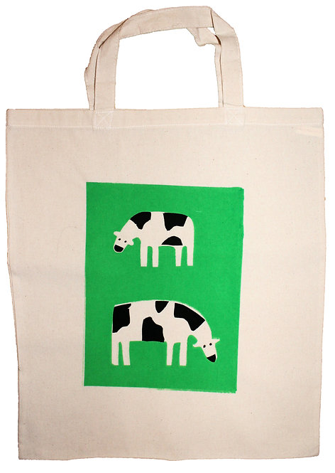 Cowbag screen print tote bag