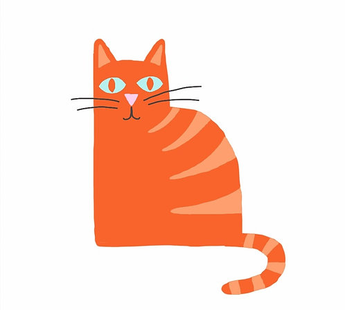 A ginger cat gift card