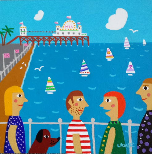 A walk by the pier gift card