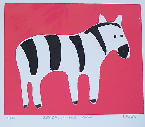 Screen Print Zebra 4/4