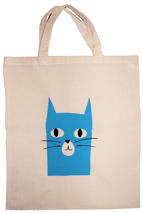 Kitten screen print tote bag