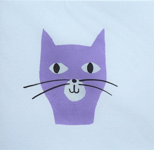 A purple cat gift card