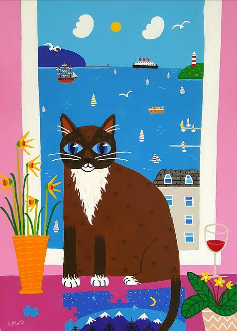 Pepper the Cat print 21cm x 30cm